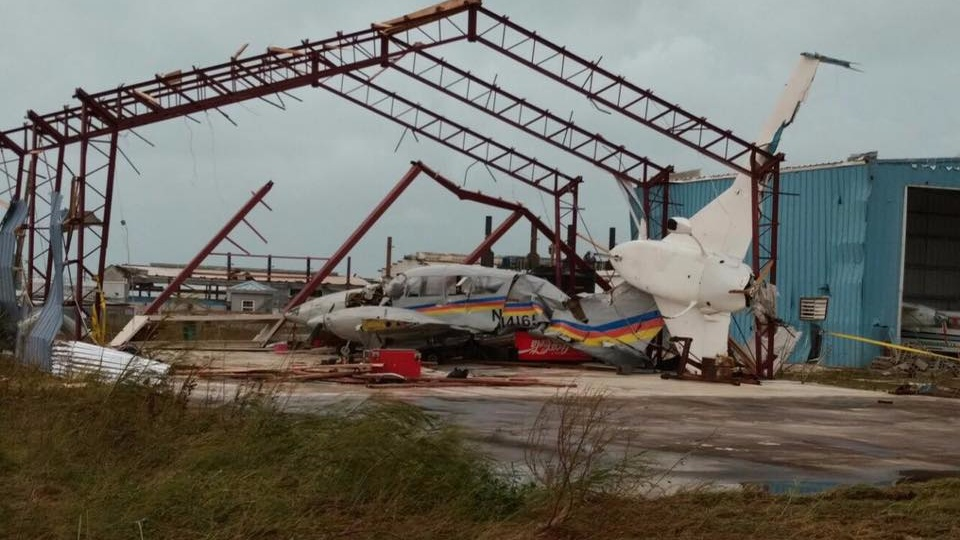A scene from Anguilla after the passage of Hurricane Irma.