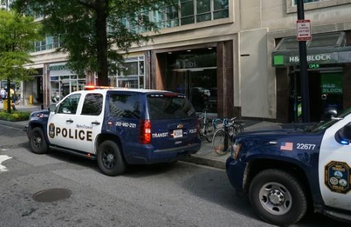 Véhicules de police à Washington le 27 avril 2017