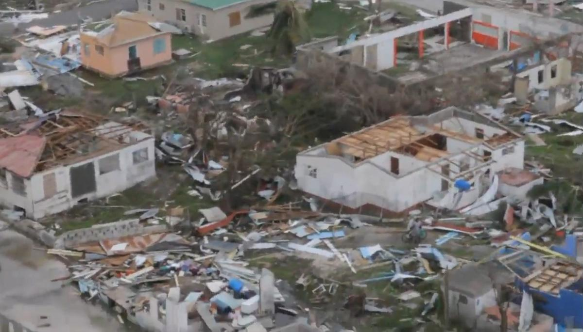 Devastation caused to Barbuda due to the passing of Hurricane Irma.