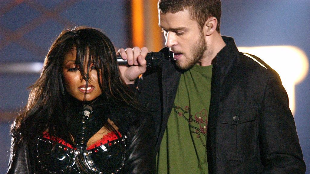 In this Feb. 1, 2004 file photo, singers Justin Timberlake and Janet Jackson are seen during their performance prior to a wardrobe malfunction during the half time performance at Super Bowl XXXVIII in Houston. Timberlake will headline the Super Bowl halftime show Feb. 4 in Minnesota.