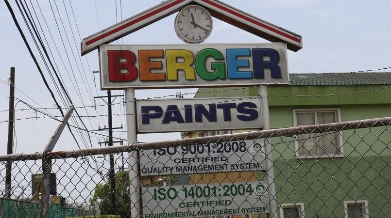 File photo of a Berger Paints sign
