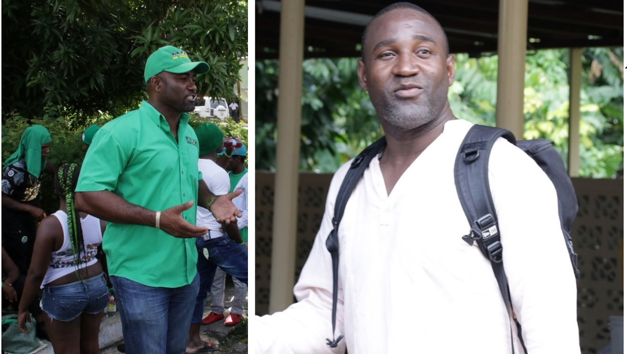 JLP's Dr Andrew Wheatley (left) and Dr Dayton Campbell of the PNP (PHOTOS: Llewellyn Wynter)