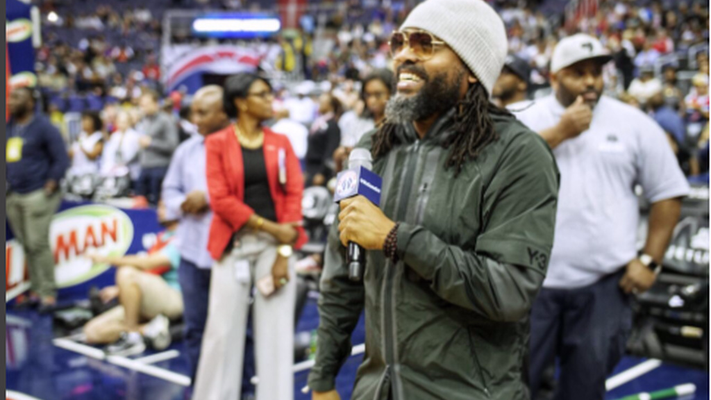 Machel performed at a Washington Wizards game as part of a Caribbean Heritage Night