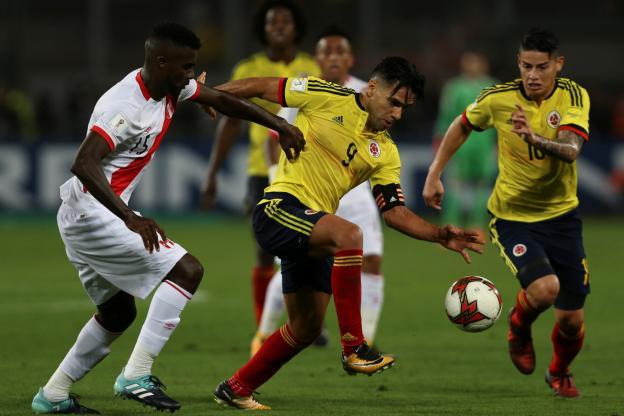 La Colombie affrontait le Pérou pour leur dernier match de qualification pour le Mondial 2018 en Russie. Credit photo: Reuters