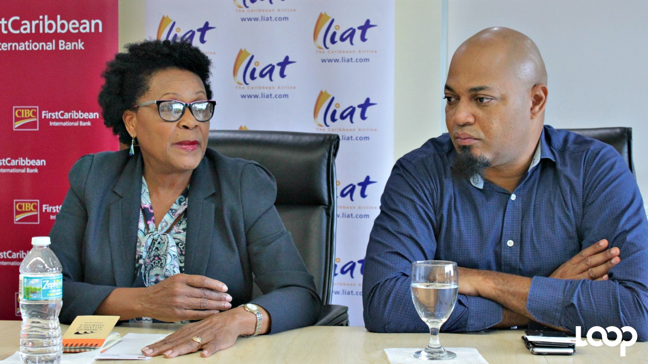 LIAT CEO, Julie Reifer-Jones, with Head of Sales and Marketing, Egbert Riley.