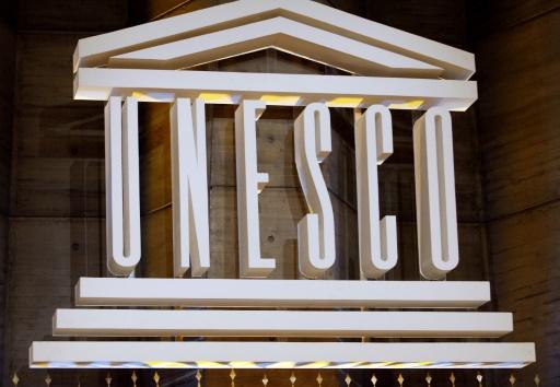 AFP / BERTRAND GUAY Le logo de l'Unesco