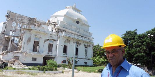 Le palais national de Haïti, le 7 septembre 2012. AFP/THONY BELIZAIRE