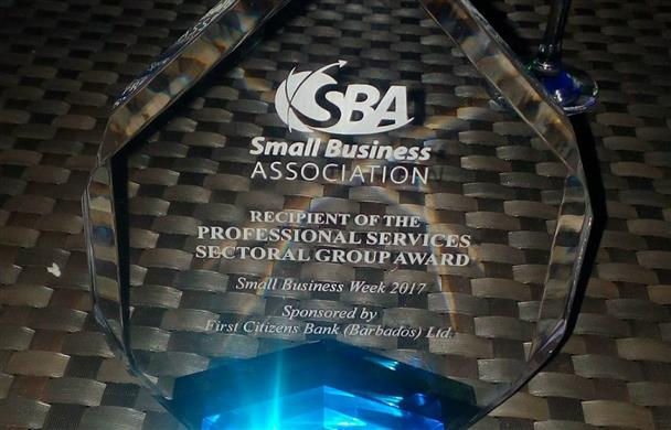 Kathie Daniel received the 2017 Small Business Award Professional Services Sectoral Group Award.