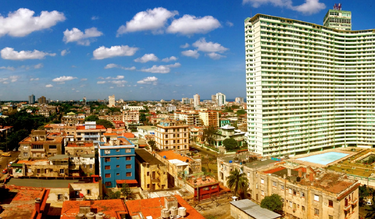 This image provided by Chris Allen shows the view in Havana, Cuba, from his hotel room - room 1414 - at Hotel Capri in April 2014. Allen's phone started buzzing as word broke of invisible attacks hitting a U.S. government worker at Havana's Hotel Capri.
