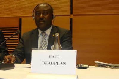 Le sénateur Evalière Beauplan./Photo: Radiotélévision Caraibes