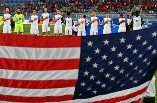 AFP / Luis ACOSTA La sélection des Etats-Unis avant son match contre Trinité-et-Tobago, le 10 octobre 2017 à Couva