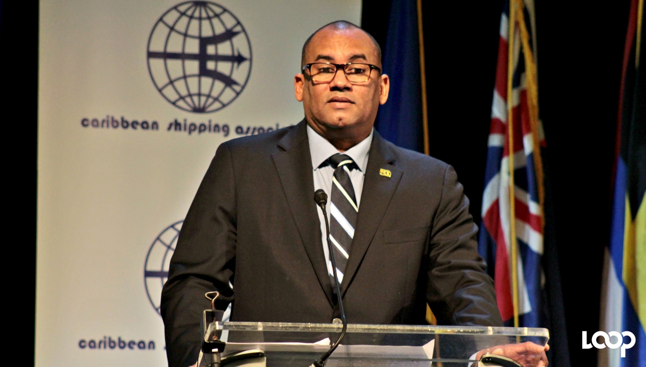 Minister of Tourism and International Transport, Richard Sealy at the opening ceremony of the 47th Annual General Meeting of the Caribbean Shipping Association at the Hilton Barbados Resort.