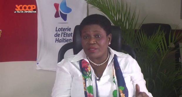 Margareth Fortuné, Directrice Générale de la loterie de l'Etat haïtien./Photo: La Dépêche