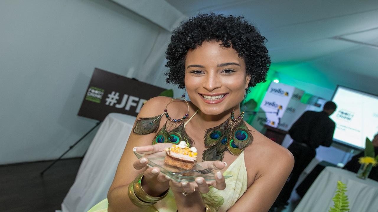 Jamaica Food & Drink Festivalambassador Kaci Fennell at the mixer last week.