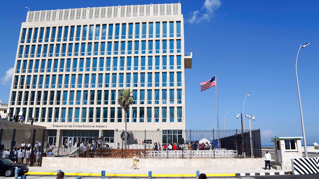 Tillerson kicks out 15 Cuban diplomats from Washington over mystery attacks on Havana embassy which have left 22 Americans ill