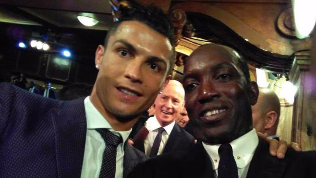 Dwight Yorke with Best FIFA Player of the Year, Cristiano Ronaldo