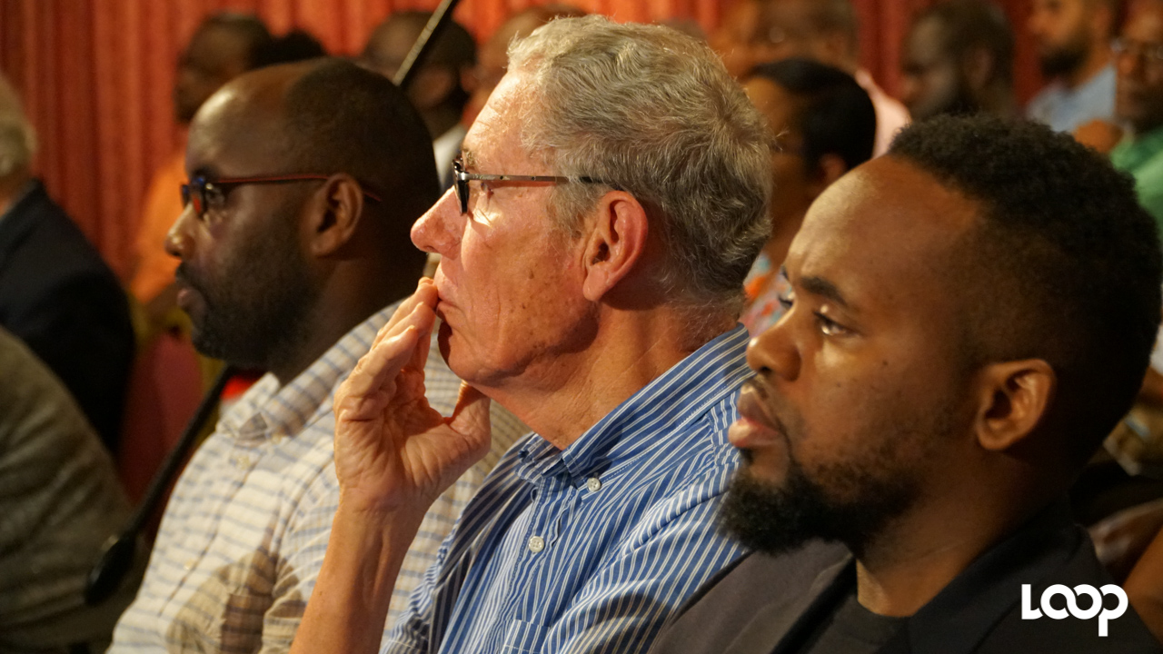 Chairman of Williams Industries, Ralph 'Bizzy' Williams in the audience at the International Business Week Public Discussion Forum. (PHOTO: Richard Grimes)