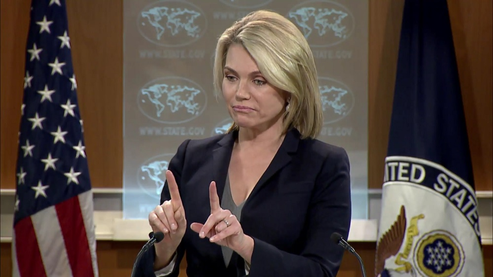 La porte-parole du Département d'Etat Heather Nauert. Photo: news.sol.org.tr