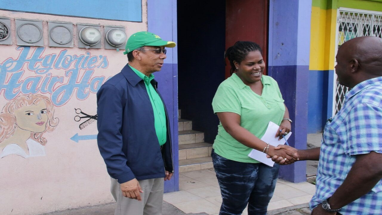 JLP General Secretary, Dr Horace Chang (left) on Election Day. (PHOTO: Llewellyn Wynter)