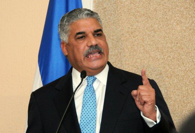 le ministre des Affaires etrangères dominicain, Miguel Vargas. Crédit photo: Informando.com
