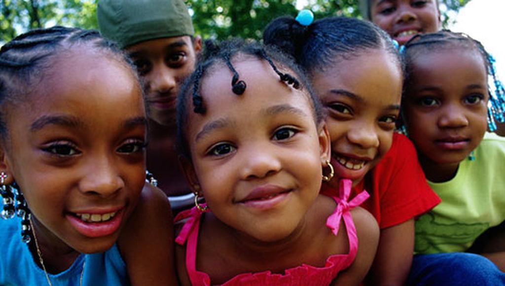 Smiling children.