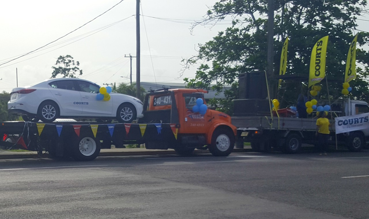 COURTS held a motorcade on Thursday, October 12, 2017, from Warrens, St. Michael.