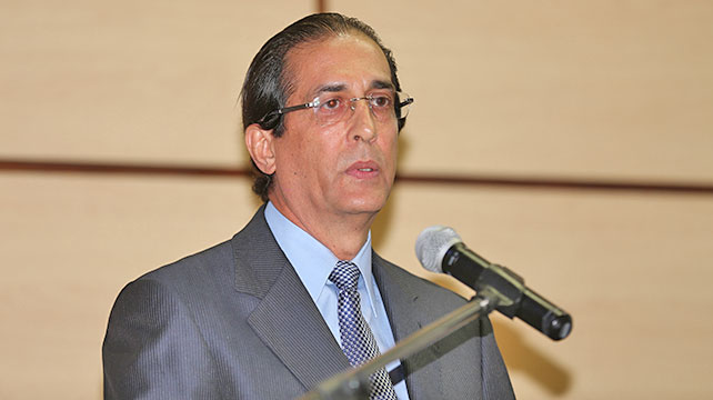 Le ministre de la présidence, Gustavo Montalvo