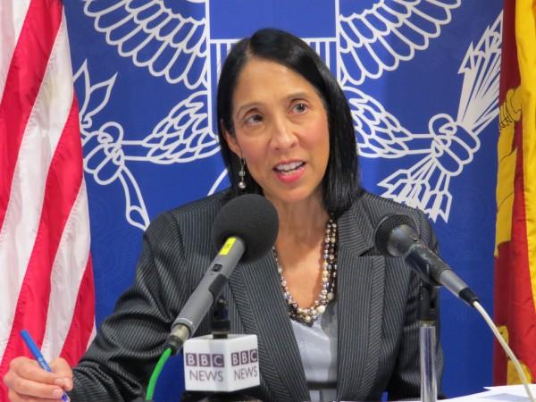 Michele Jeanne Sison diplomate désignée par Donald Trump pour être la prochaine ambassadrice des Etats-Unis en Haïti./ Crédit photo: ww.dbsjeyaraj.com
