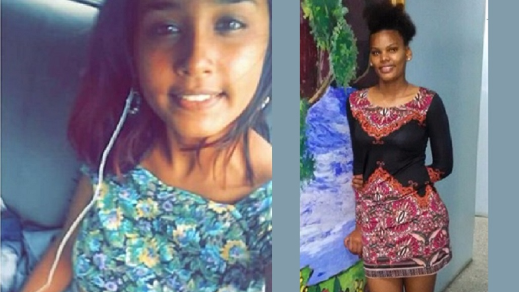 (Photo: Missing girls (L-R) Chandani Ally and Sabrina Edmund.)