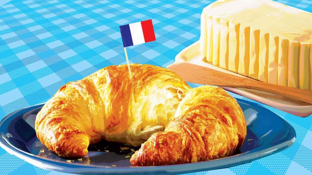 Franse boter en de bekende botercroissant zijn mogelijk in gevaar. Illustratie: Lyne Lucien/The Daily Beast.