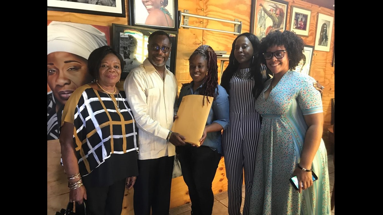 (From left) Judge Julia Sakordie Mensah; His Royal Majesty Drolo Bosso Adamtey 1; Stephanie Marley, Rita Marley Foundation Director; Rosemary Duncan Rita Marley Foundation Manager; and the Princess of Ghana.