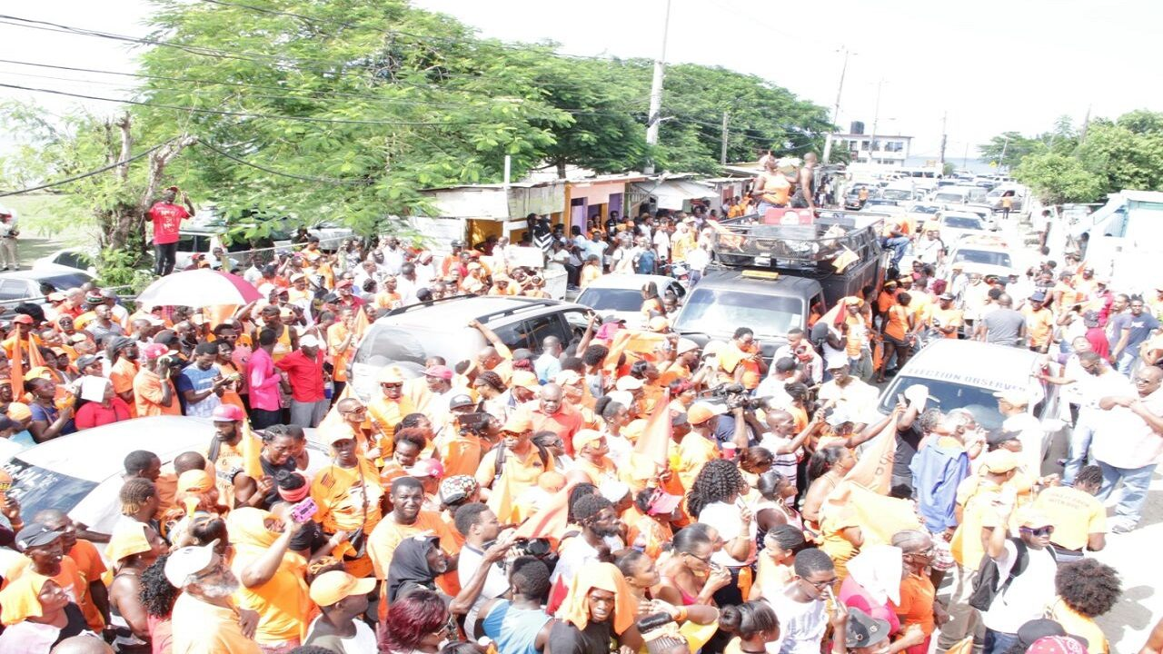 PNP supporters in South East St Mary.
