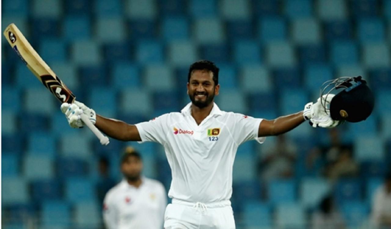 Sri Lanka's Dimuth Karunaratne.