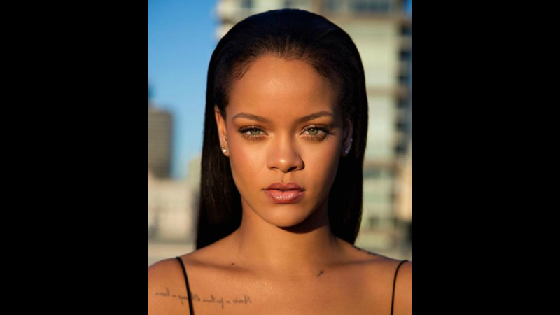 Rihanna posted this promotional image on her Instagram page with the caption - 'The new generation of beauty'