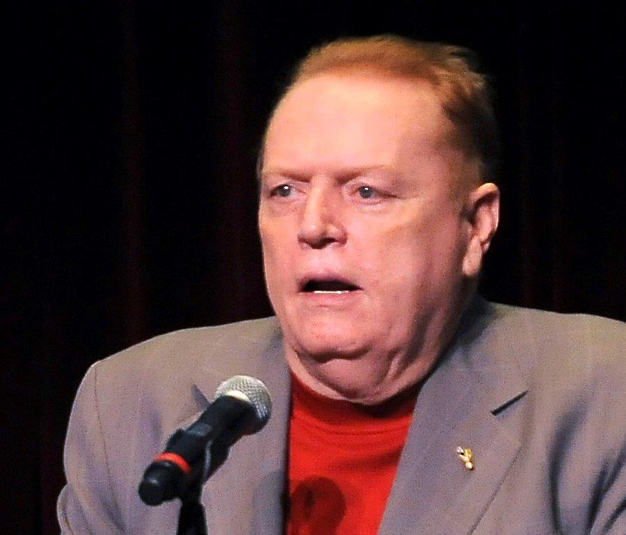 "In this April 30, 2011 file photo, Larry Flynt speaks in Los Angeles, Calif. Flynt is offering ""up to $10 million"" to anyone who produces information that leads to President Donald Trump's impeachment and removal from office. He lays out the offer in a full-page ad in the Sunday edition of The Washington Post. (AP Photo/Katy Winn, file)."