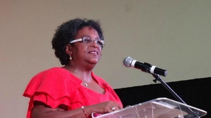 Opposition Leader Mia Mottley.