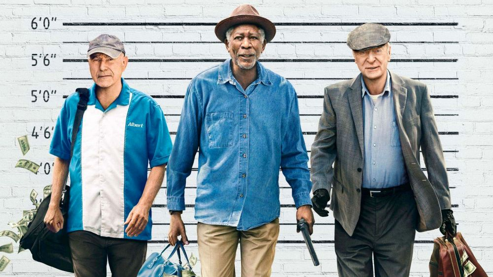 Poster van de film Going In Style, over 3 gepensioneerde mannen. (Foto: empireonline.com)
