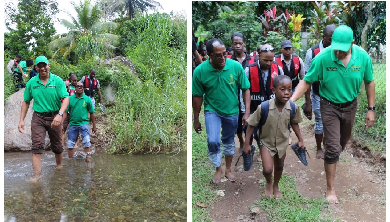 Prime Minister and Jamaica Labour Party leader Andrew Holness and JLP candidate for South East St Mary Dr Norman Dunn were on the campaign trail on Wednesday. (PHOTOS: Facebook)