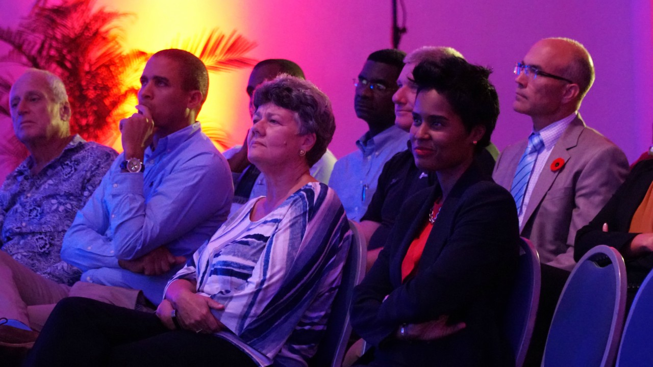 A section of the audience at the 'Energy Talks' hosted by the Barbados Light & Power. 