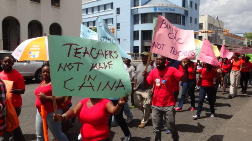 FILE - Industrial action by teachers.