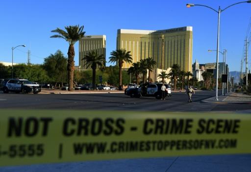 AFP / Mark RALSTON Les lieux de la fusillade qui a fait au moins 58 morts le 2 octobre 2017 à Las Vegas