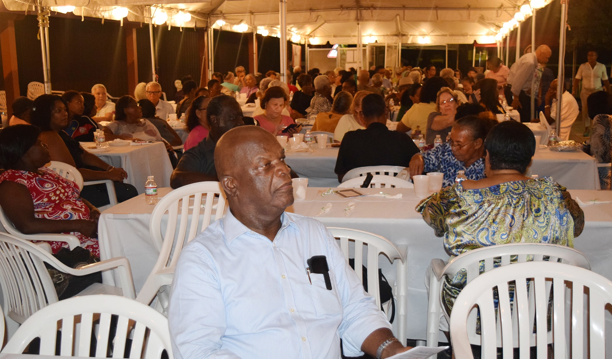 A night with the Stars attendees settle in for a night of fun.