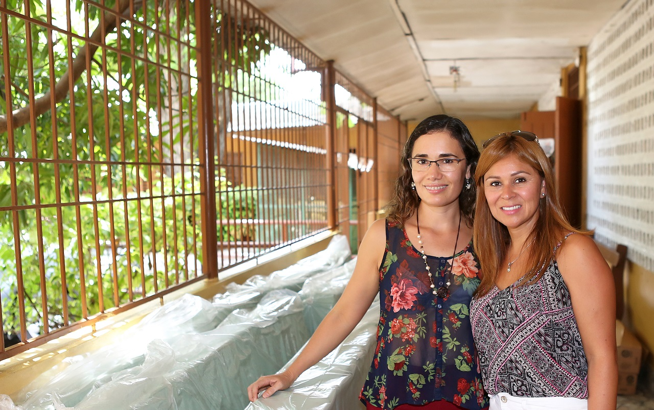 Latin American Women's Club president  Maria Dolores Serrano (left) with vice president Sandra Raggio ahead of the donation at the  St Monica's Home for the Abandoned Elderly.