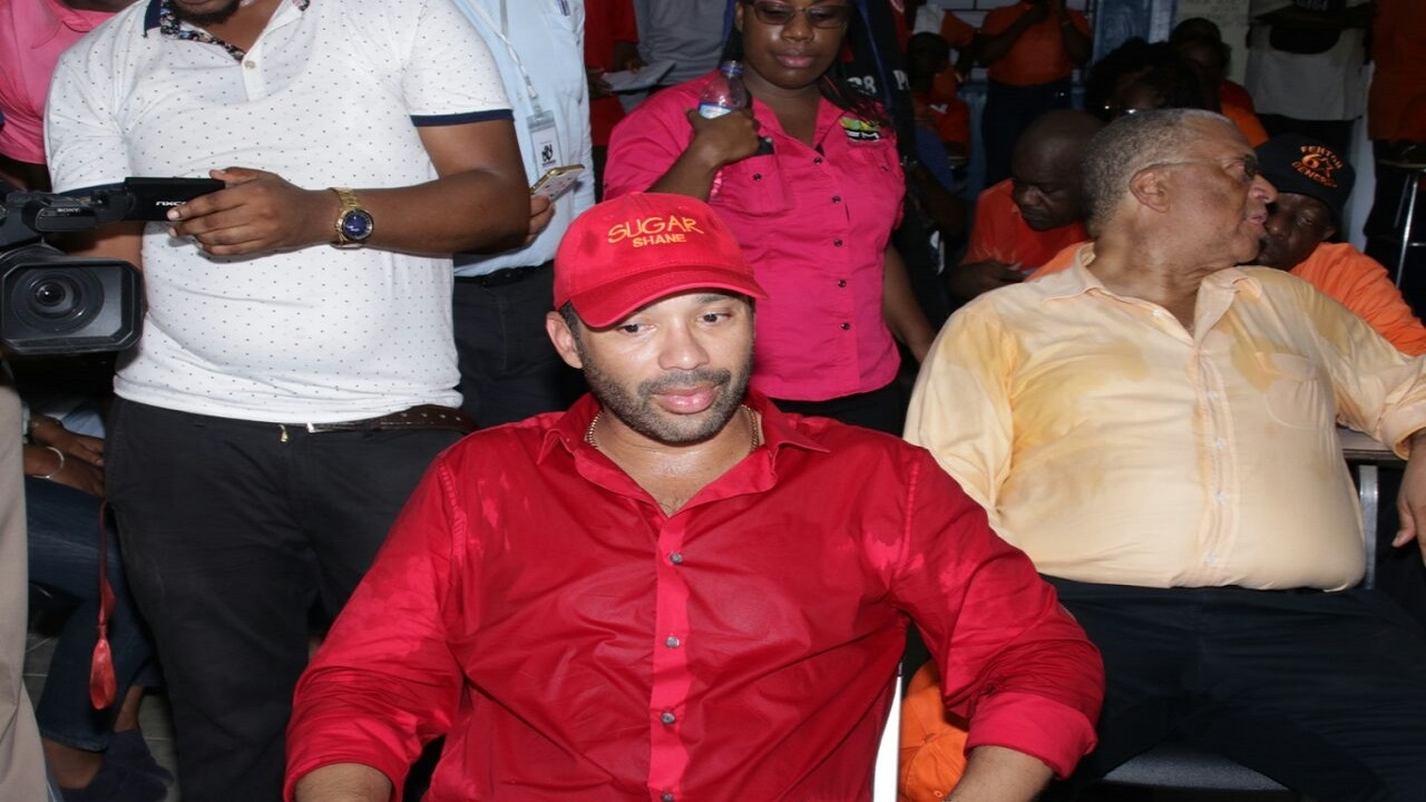 Dr Shane Alexis during Nomination Day activities on Monday. (PHOTO: Llewellyn Wynter)
