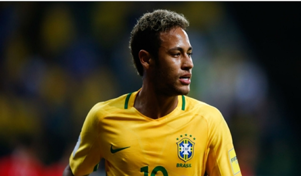 PSG star Neymar in action for Brazil