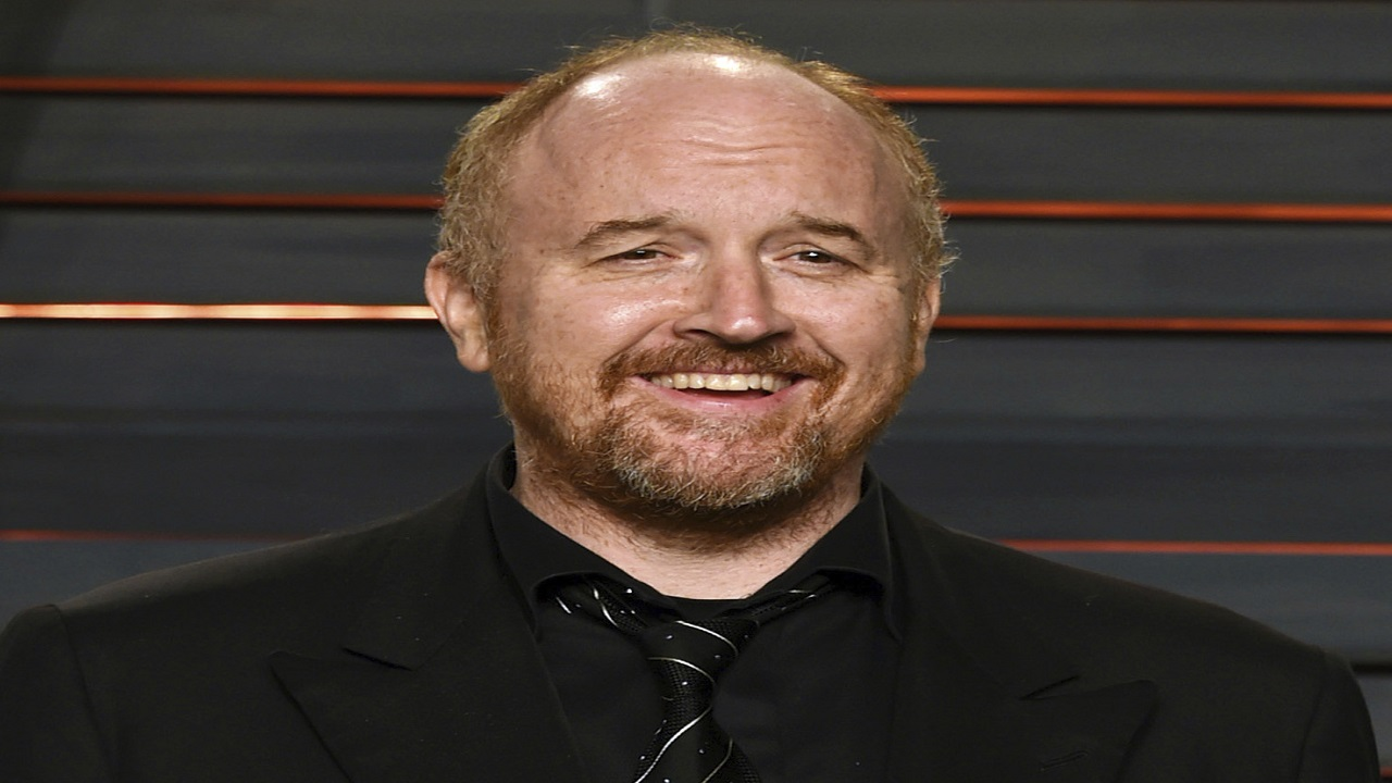 "In this Feb. 28, 2016 file photo, Louis C.K. arrives at the Vanity Fair Oscar Party in Beverly Hills, Calif. The New York premiere of Louis C.K.'s controversial new film ""I Love You, Daddy"" has been canceled amid swirling controversy over the film and the comedian."