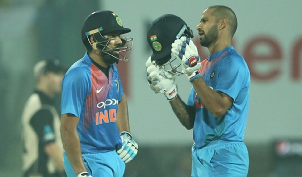 Rohit Sharma and Shikhar Dhawan.