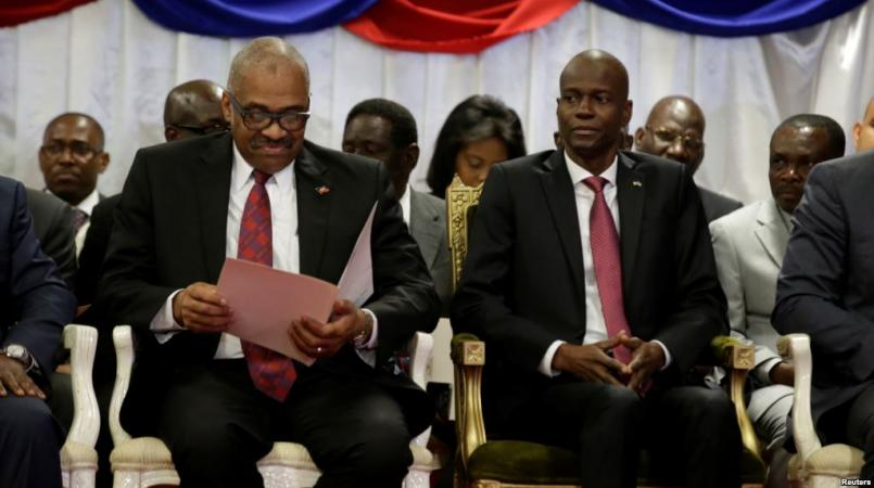 Le président Jovenel Moise et le premier ministre Jack Guy Lafontant. Photo: Facebook/Présidence d'Haiti.