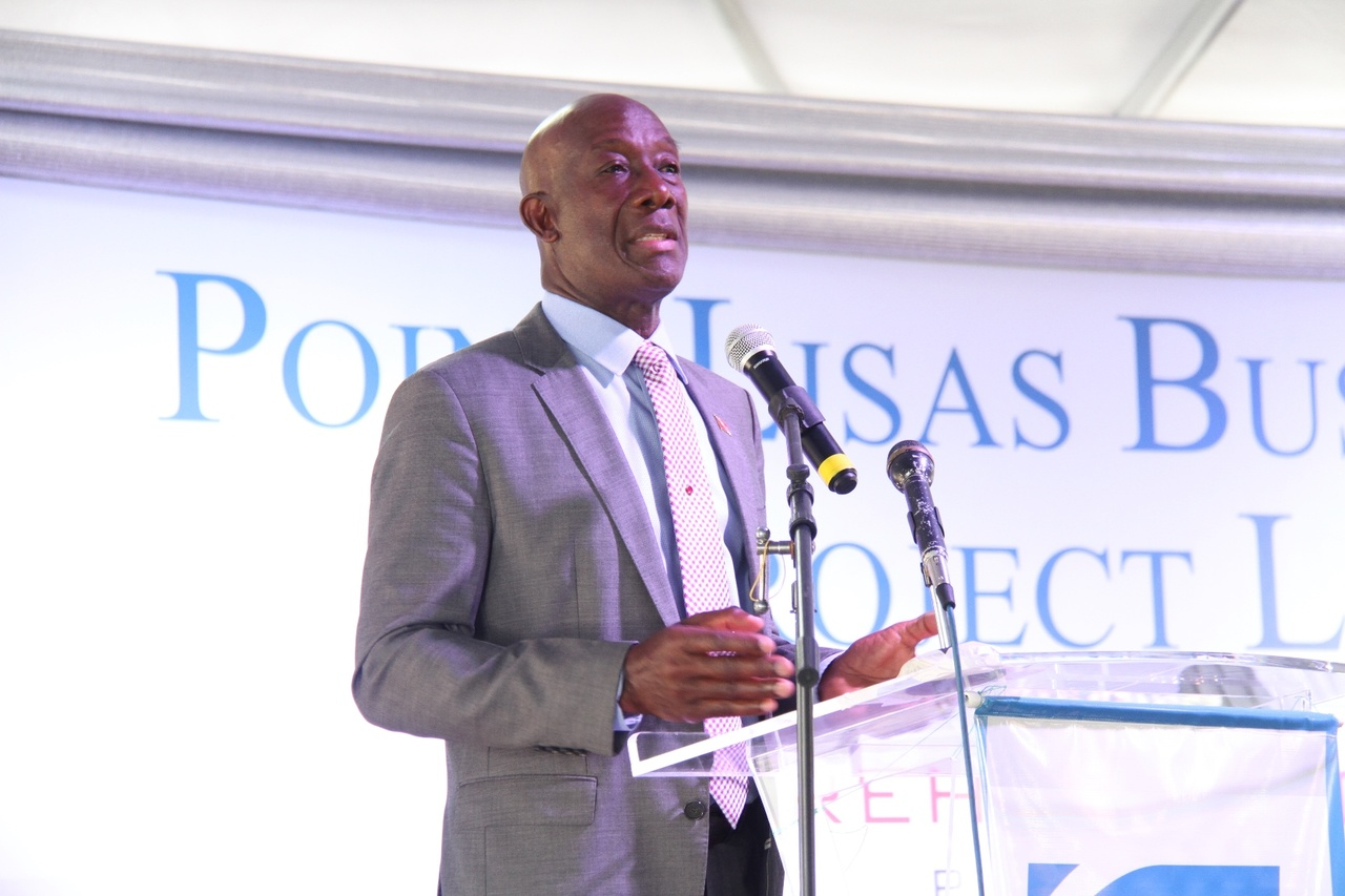 Prime Minister, Dr Keith Rowley delivers the feature address.