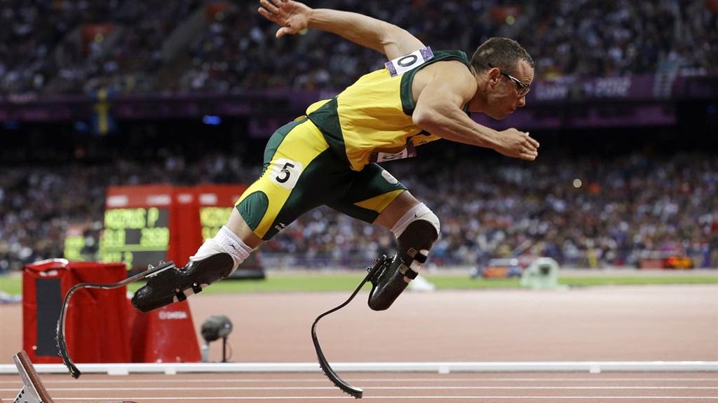 Bladerunner Oscar Pistorius tijdens de Olympische Spelen van 2012. Foto: AP/NBC